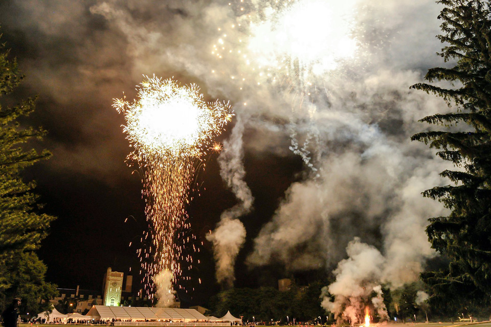 Fireworks during Conversat at the University of Guelph in 2014.