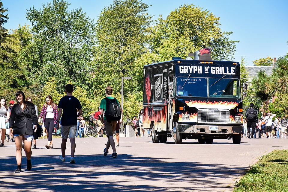 Gryph N' Grille food truck.
