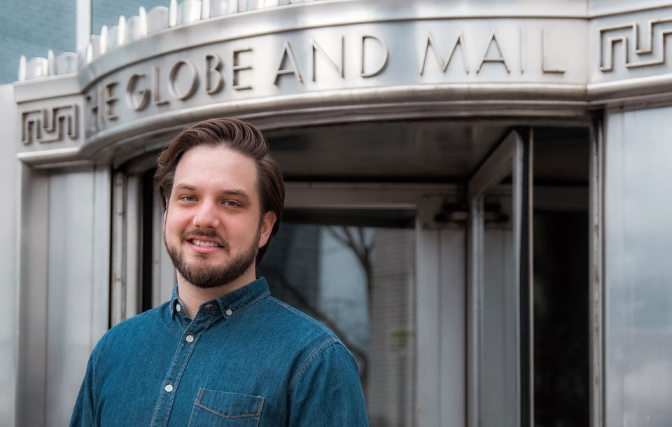Guelph graduate Matt French is an art director at The Globe and Mail newspaper.