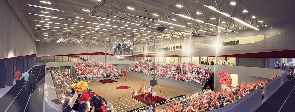 The new Athletics Centre at the University of Guelph.