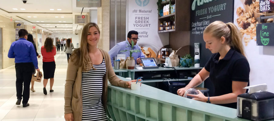 Guelph grad Emily Wight runs Astarte Yogurt in Toronto's PATH.