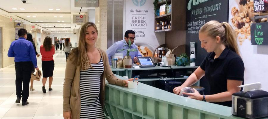 Guelph grad Emily Wight runs Astarte Yogurt in Toronto's PATH.