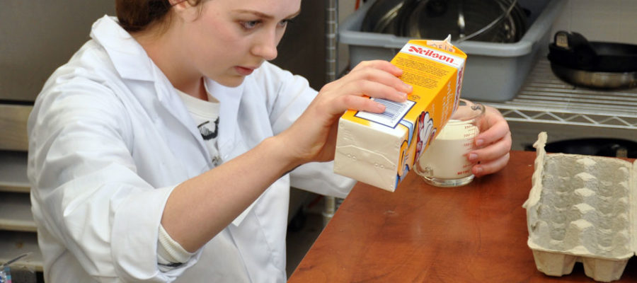 Students learn food basics and cooking skills at the University of Guelph.