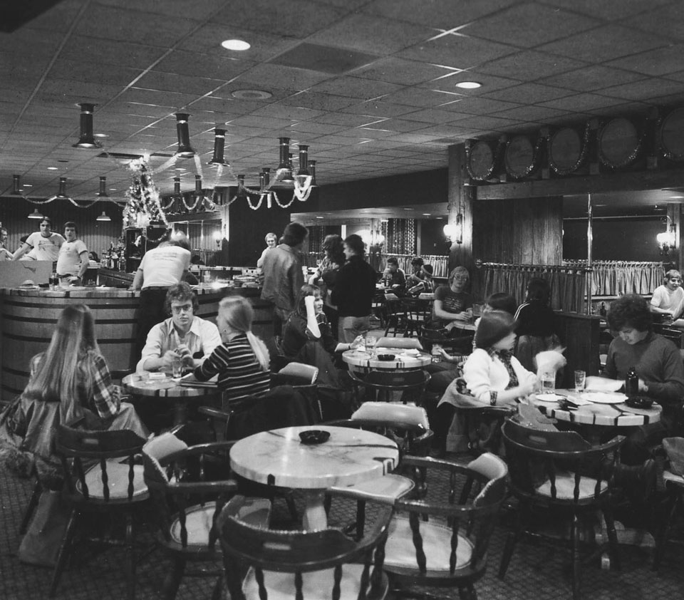 The Keg Campus Pub at the University of Guelph in 1980
