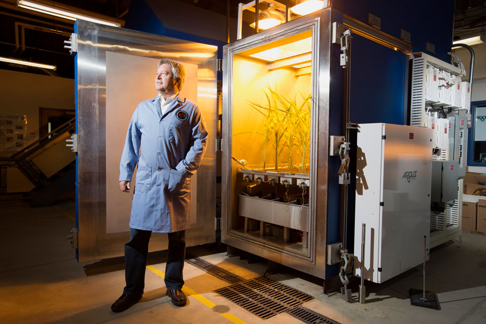 University of Guelph scientist Mike Dixon grows food in barren places