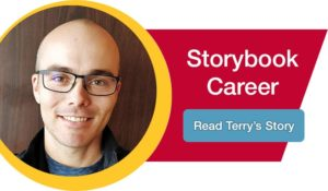 storybook career button