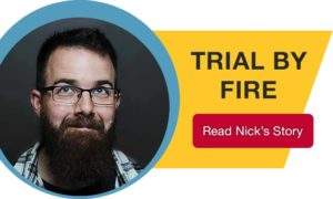 trial by fire button